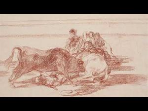 """Tauromaquia. Goya. Drawings. """"Only my Strength of Will Remains"""""""