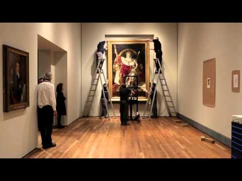 Video of the display of the painting by Ingres