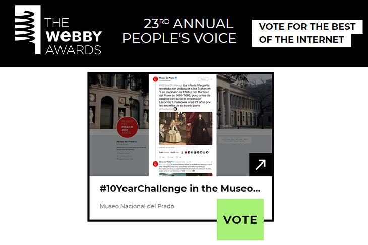 El #10yearchallenge del Museo del Prado, una de las cinco mejores iniciativas mundiales en redes
