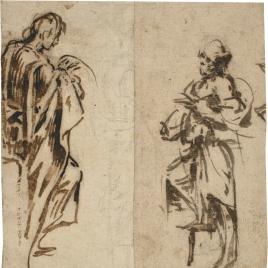 Dos estudios para figuras en pie