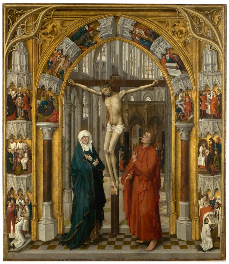 La tabla central. La Crucifixión
