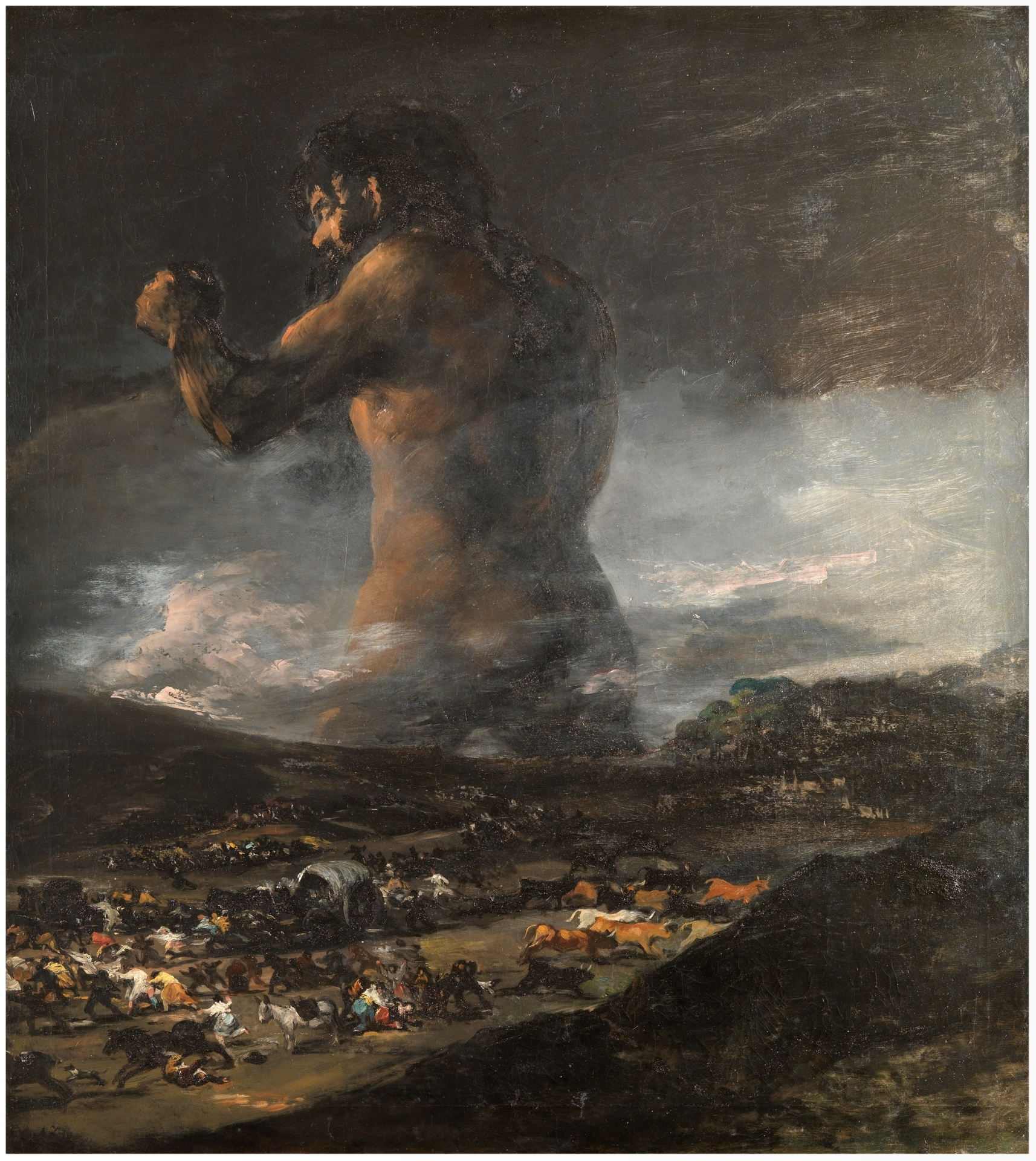 The Colossus The Collection Museo Nacional Del Prado - Francisco goya paintings
