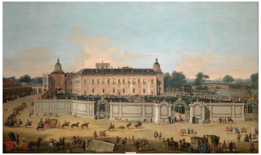 Vista del Palacio de Aranjuez