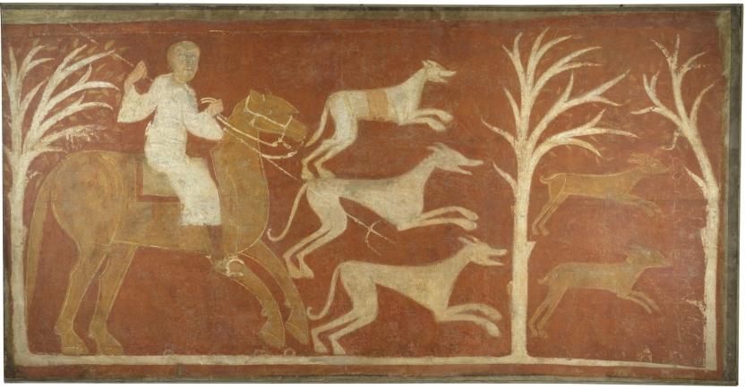 Cacería de liebres. Ermita de San Baudelio. Casillas de Berlanga (Soria)