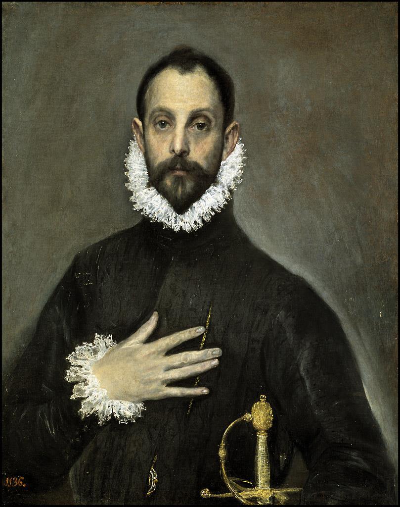 Resultado de imagen de el caballero con la mano en el pecho