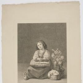 La Virgen niña en oración