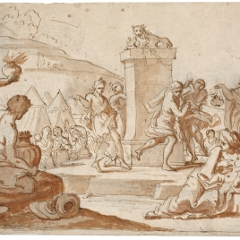 Los israelitas adorando el becerro de oro