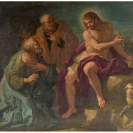 San Juan Bautista señalando al Mesías
