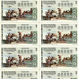 Capilla de billete de Lotería Nacional para el sorteo de 5 de septiembre de 1972