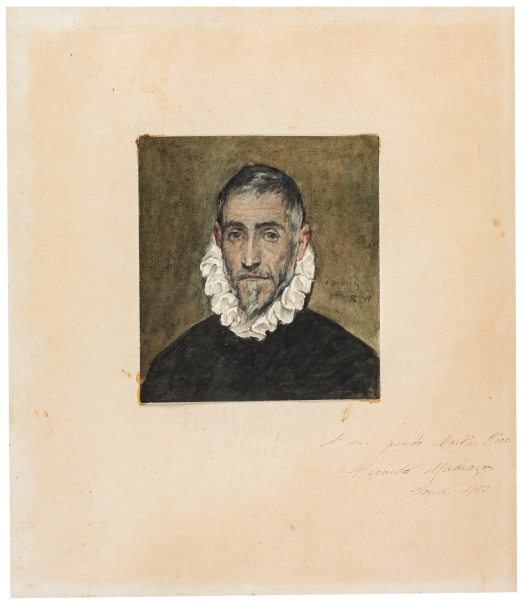 Copia del Retrato de caballero anciano de El Greco