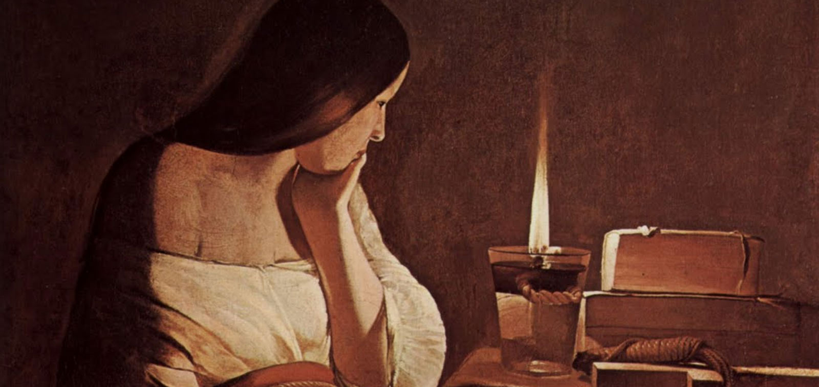 Invited Work. La Madeleine à la Veilleuse, by Georges de La Tour