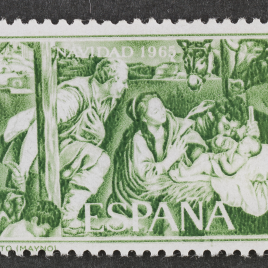 Serie de sellos Nacimiento de Juan Bautista Maíno