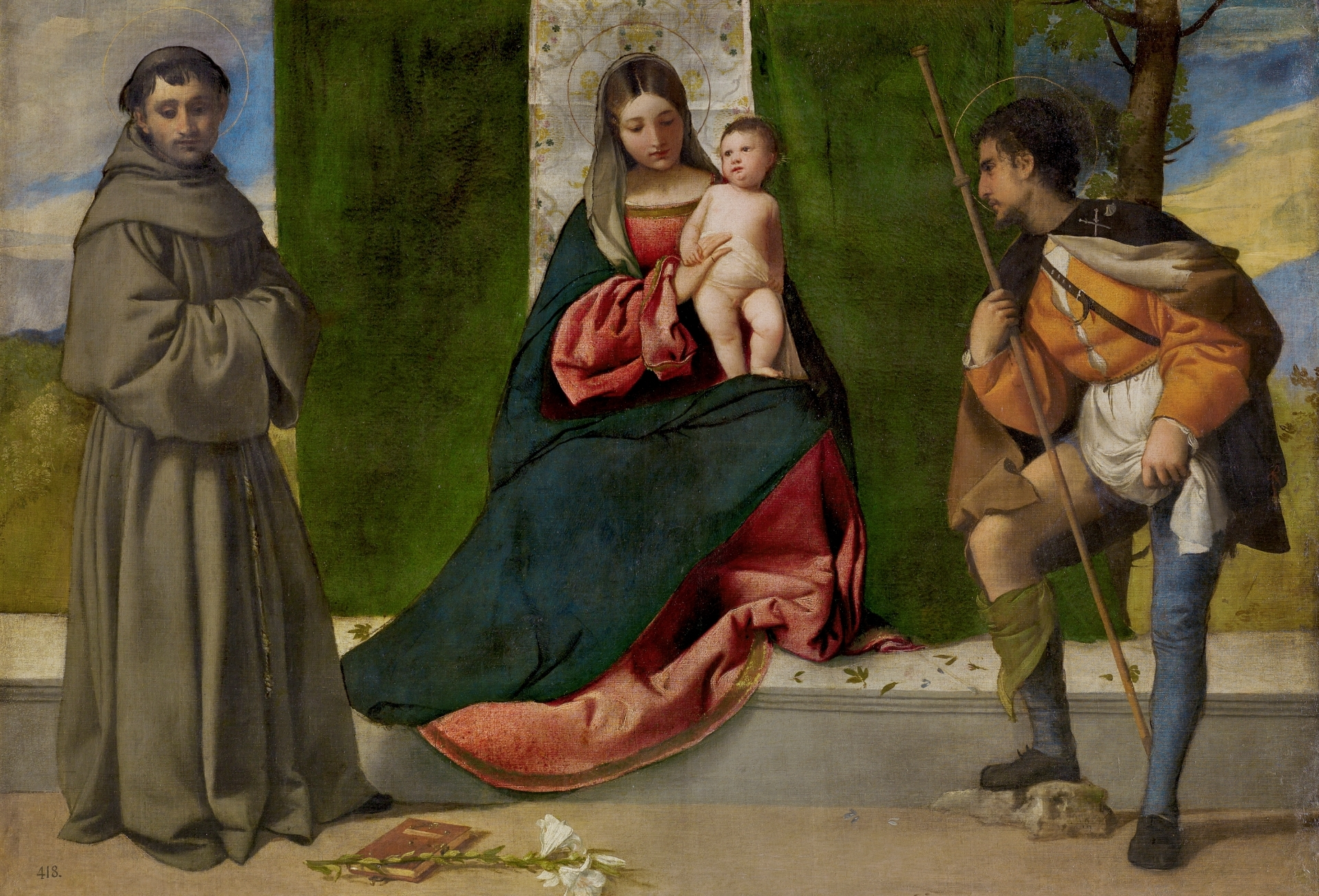 In Arte Nino 2016 the virgin and child between saints anthony of padua and