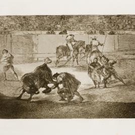 Pepe Illo haciendo el recorte al toro