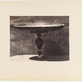 Heliotrope salver with a tall foot