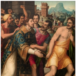 Saint Stephen led to his Martyrdom