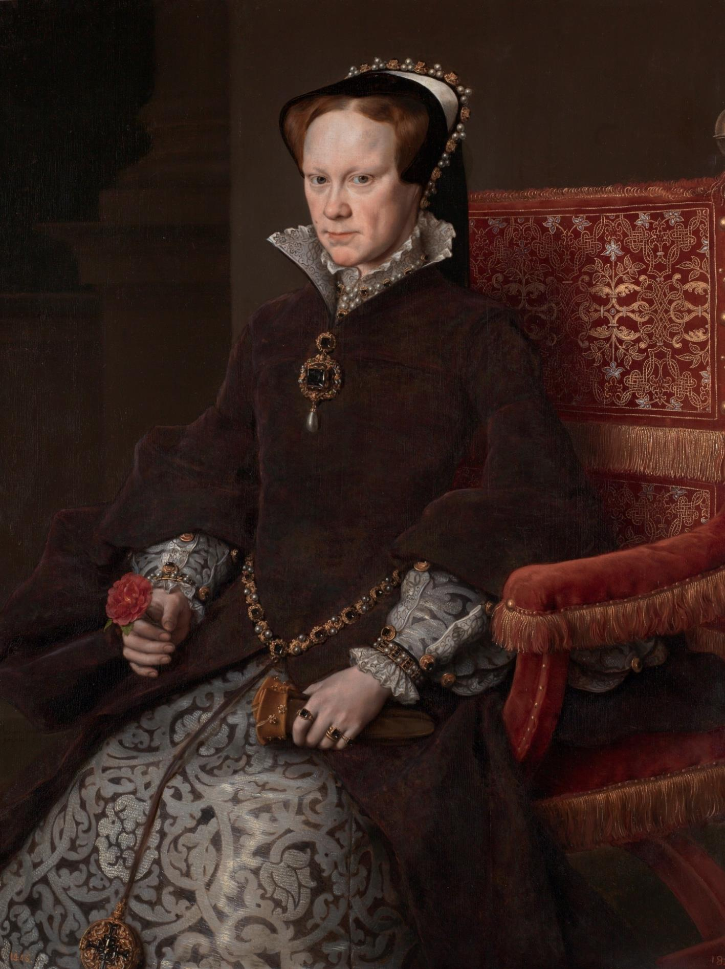 María Tudor, reina de Inglaterra, segunda mujer de Felipe II [Antonio Moro]