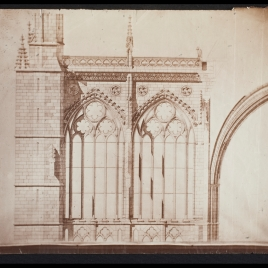 Catedral de León. Proyecto de terminación de las fachadas laterales.