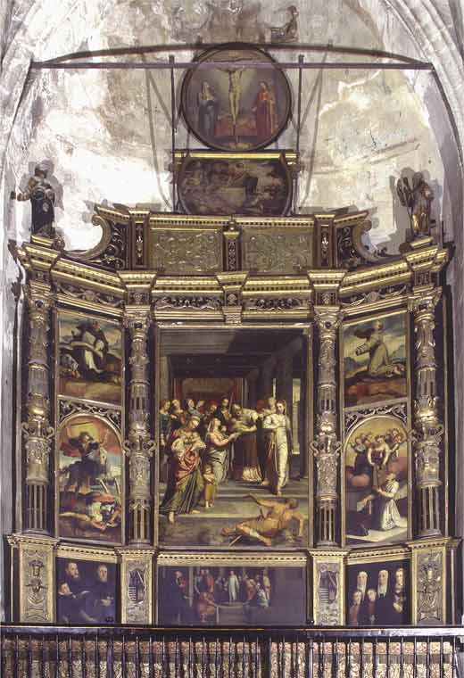 Original location in the cathedral. Altarpiece of the Marshal's Chapel, Seville cathedral