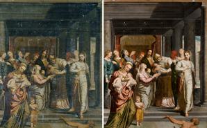 Restauración de La Purificación de la Virgen de Pedro de Campaña