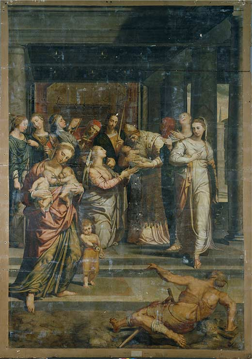 The painting prior to restoration