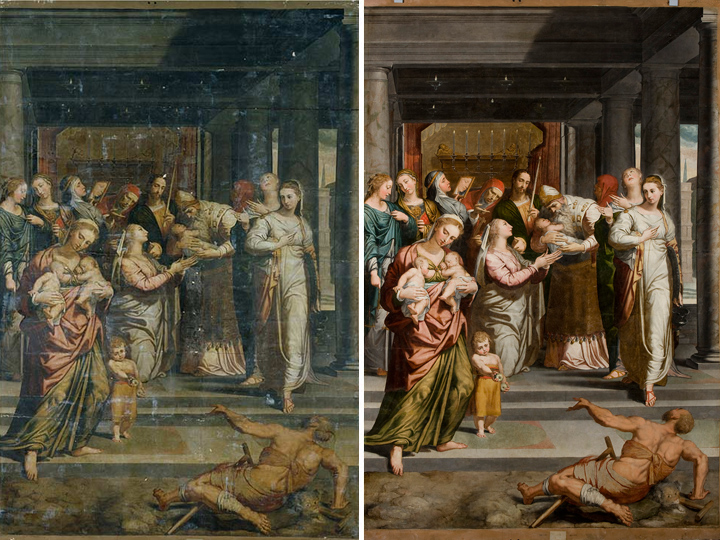 The Restoration of The Purification of the Virgin in the Temple by Pedro de Campaña