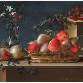 Still Life with Fruit and a Crystal Vase