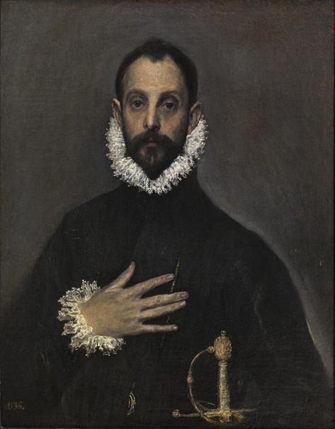 El caballero de la mano en el pecho (reprodución fotográfica)