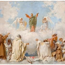Aparición del apóstol Santiago a santos y caballeros de las órdenes militares