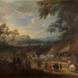 Luis XIV saliendo de campaña