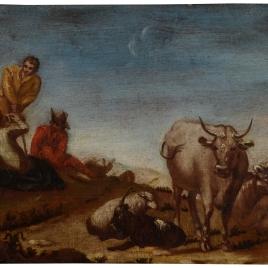 Pastores con su rebaño