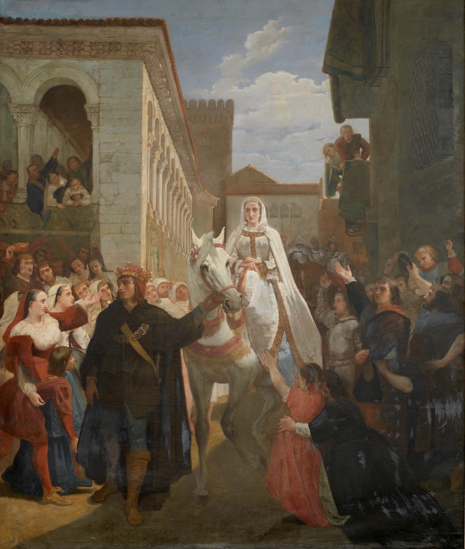 Manifestación del rey don Enrique IV de Castilla al pueblo segoviano ...