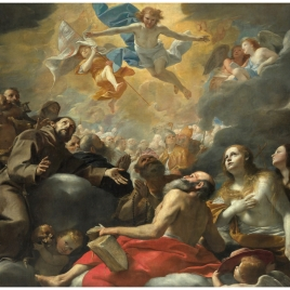 Cristo en gloria con santos