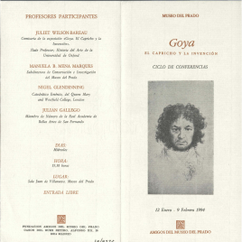 Goya : el capricho y la invención : ciclo de conferencias / Amigos del Museo del Prado.