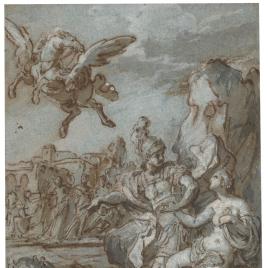 Perseo rescatando a Andrómeda