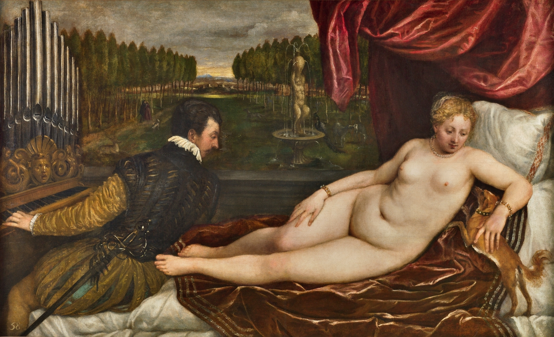 Venus With An Organist And A Dog The Collection Museo Nacional