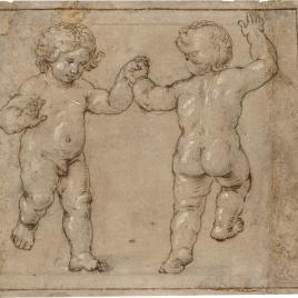 Dos niños danzando