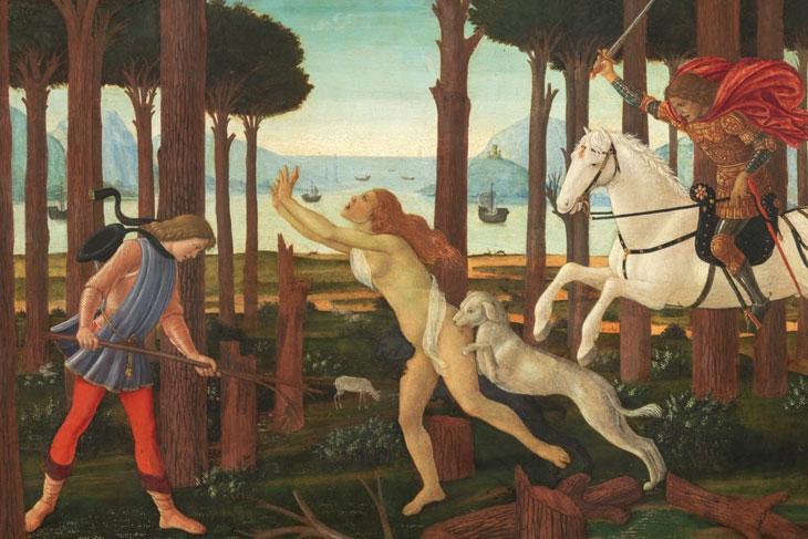 El Prado habla. Escenas de La historia de Nastagio degli Onesti