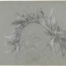 Cabeza coronada de laurel / Cabeza