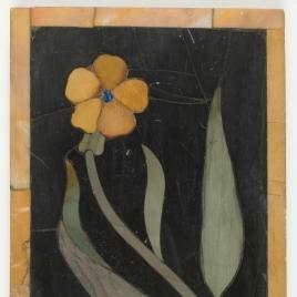 Placa con ramito con flor