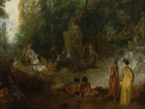 <em>Fiesta en un parque</em>, Jean-Antoine Watteau, comentada por Raul Chavarri