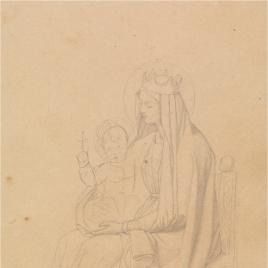 Estudio para la figura de María (Regina Patriarcharum. Capilla de las Letanías de la Iglesia de Notre Dame de Lorette, París).