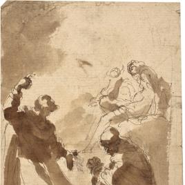 Dos monjes en oración