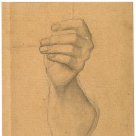 Estudio de brazo izquierdo (Mater Salvatoris. Capilla de las Letanías de la Iglesia de Notre Dame de Lorette, París).