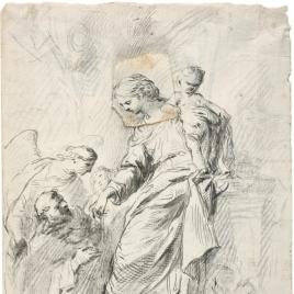 La Virgen del Rosario con Santo Domingo / Apunte para la figura de la Virgen