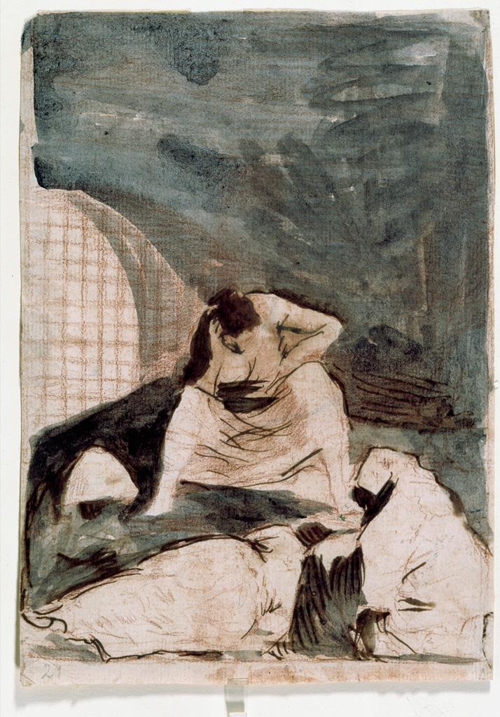 Dibujos preparatorios para sus grabados [Goya].