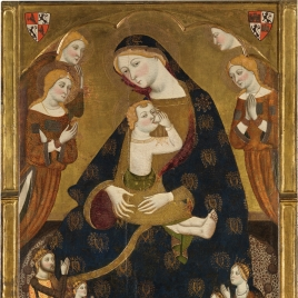 The Virgin of Tobed with the Donors Enrique II of Castile, his Wife, Juana Manuel, and two of their Children, Juan and Juana (?)