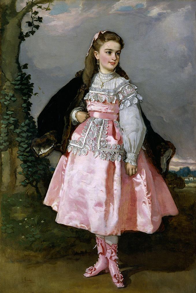 Condesa de Santovenia «la niña rosa», La [Rosales]