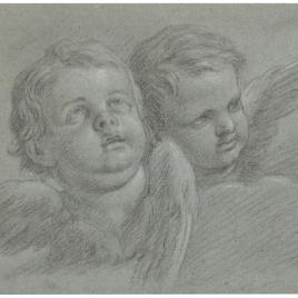 Dos cabezas de querubines