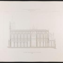Sección longitudinal de la Catedral de León